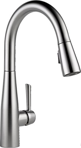 Delta Faucet 9113-AR-DST Essa Single Handle Pull-Down Kitchen Faucet with Magnetic Docking, Arctic Stainless (1 Handle Kitchen Faucet compare prices)