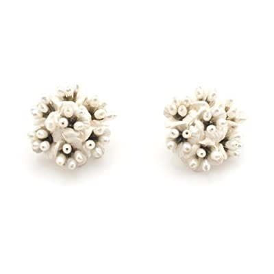 Phacelia Silver Clip Earrings by Michael Michaud