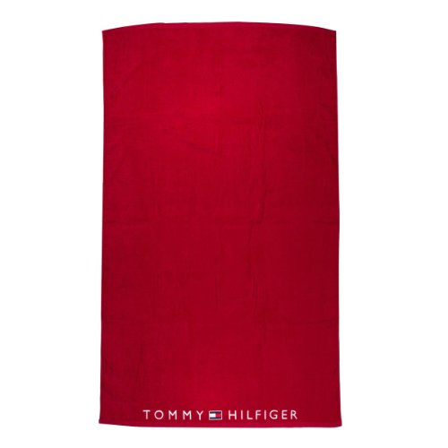 Tommy Hilfiger Estelle Solid Towel - Tango Red/Classic