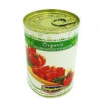 【 ケース 販売 】 スピガドーロ 有機 ダイス トマト 400g × 24缶