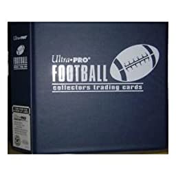 Ultra Pro Value Gift Pack: One Blue Football D-Ring Binder (Album) with 25 9 Pocket Pages