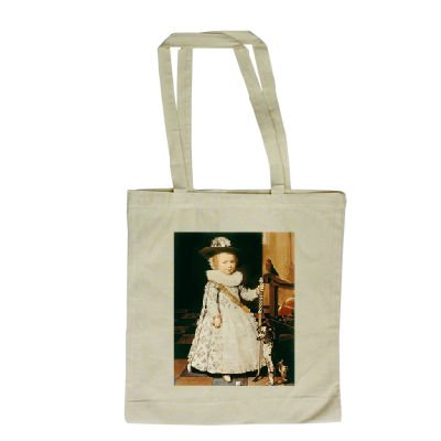 Portrait of a Young Boy with a Golf Club and.. - Long Handled Shopping Bag