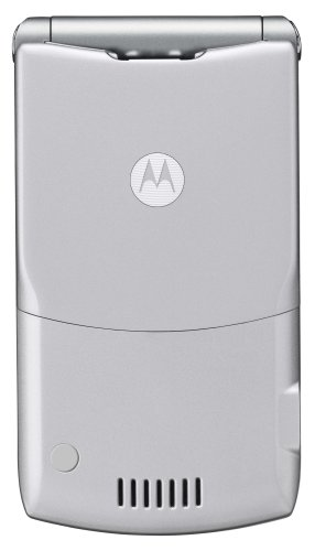 Motorola RAZR V3 Unlocked Phone with Camera and Video Player–U.S. Version with Warranty (Silver)