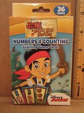 Jake & the Never Land Pirates Numbers & Counting 36 Learning Game Cards - 1