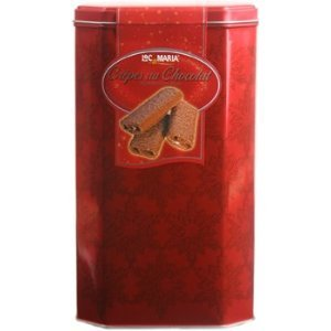 Loc Maria Milk Crepes Belgian Chocolate Biscuits in a Gift Tin Net Wt 18 Oz (510 g)