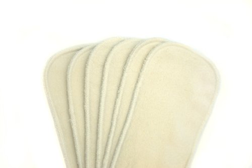 Kissaluvs Cotton Fleece Booster Doublers, 6 Pack, Unbleached