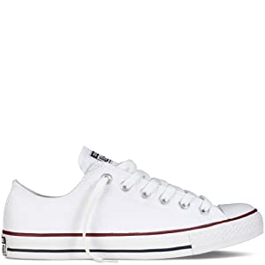 Converse Men's All Star Chuck Taylor M7652 Optical White M7652 Canvas Lo Ox - MEN 14 M US / WOMEN 16 M US