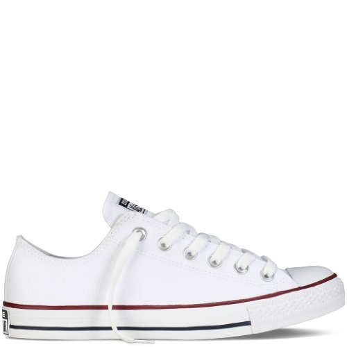 pictures of Converse Men's All Star Chuck Taylor M7652 Optical White M7652 Canvas Lo Ox - MEN 14 M US / WOMEN 16 M US