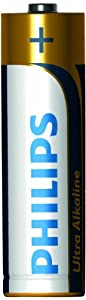 Philips LR6E4B/17 ExtremeLife Ultra Alkaline AA Battery, 4-Pack