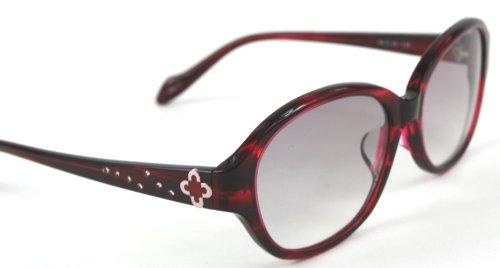 マリ クレール marie claire サングラス 女性用 UVカット SG MC 5021 3. WN 専用ケース付属 アジアンフィットモデル 薄めの色のサングラス クリアレッド 赤 紫外線カット