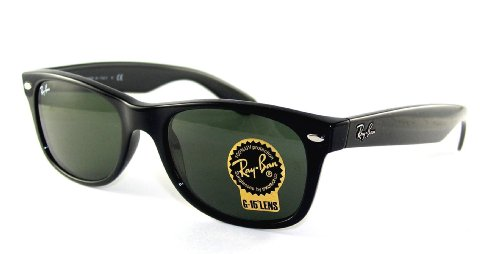 Ray-Ban New Wayfarer RB2132 901 Black/G-15XLT, 52mm