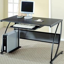 Buy Low Price Comfortable Desks Contemporary Computer Desk with Keyboard Tray by Coaster (B0051PC048)