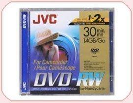 JVC DVD-RW 1.4Gb 8cm 30min Pack of 10 Camcorder Mini DVD
