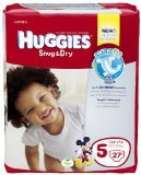 Huggies Diapers, Size 5 (Over 27 lb), Disney Baby, Jumbo 27 diapers
