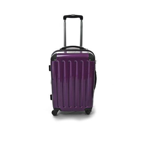 Hartschalen Koffer Aubergine Hochglanz max.45