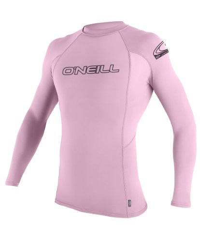 O'Neill Wetsuits Youth Basic Skins Long Sleeve Crew, Pink, 12