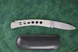 Sheffield Knives Single Blade Punched Stainless Steel Lock Knife With Sheath