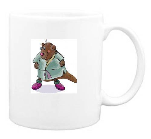Mug with wearing, beaver, art, robe, animal, martial, sport