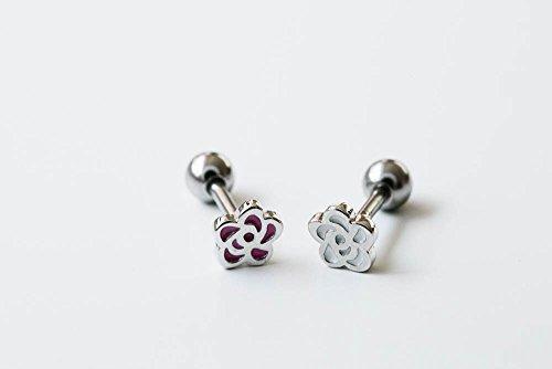 Silver Line rose flower piercing