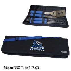 Brigham Young (BYU) Cougars 3-Piece BBQ Tool Set with Tote