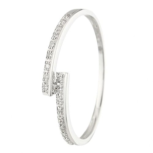 The Diamond Ring 375 White Gold 54 ° Woman