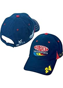 NASCAR Throwback #24 Jeff Gordon Navy Bl Velcro Pit Cap