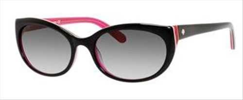Kate Spade Sunglasses - Phyllis / Frame: Black Pink Lens: Gray Gradient-Phylliss0Jus