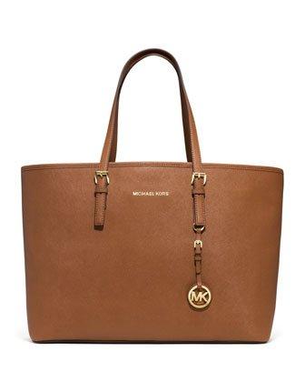 Michael Kors Jet Set Women's Travel Tote Handbag Purse Luggage