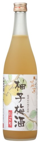 Japanese Umeshu Plum Wine with Yuzu from Kyoto, 72cl