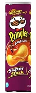 Pringles Barbecue Super Stack Potato Chips 6.38 oz