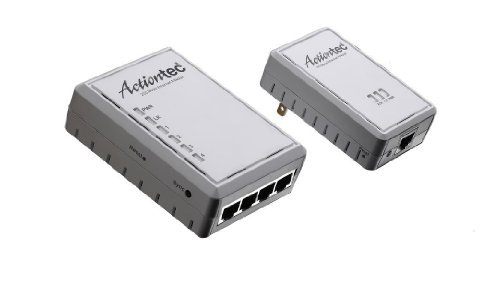 Actiontec PWR214K01 200 Mbps Powerline Home Network Adapter & Hub