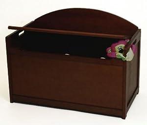Child's Wooden Toy Box Chest - Espresso Brown Finish