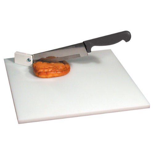 Cutting Board with Pivot Knife- White Board