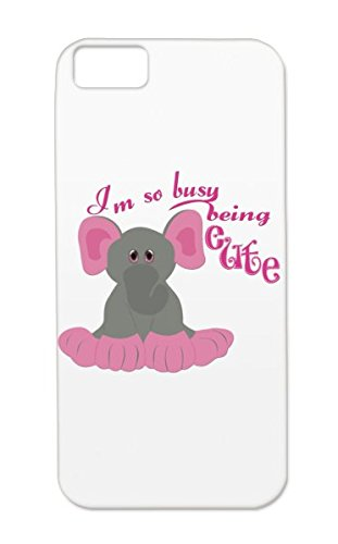 Pink Cute Kids Clothes Elephant Animals Nature Animals Wildlife Baby Adorable Graphic Tees Tpu For Iphone 5C Red Busy Being Cute Case Cover front-531164