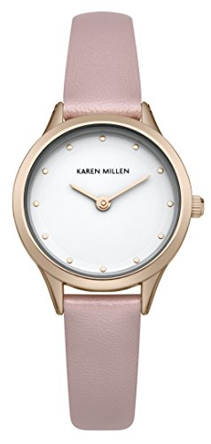 Karen Millen - Orologio Analogico da Polso, Donna, Cinturino in PU, Rosa