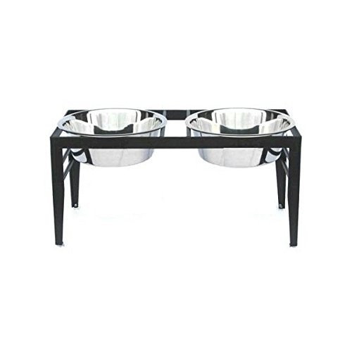 chariot-double-bowl-elevated-dog-diner