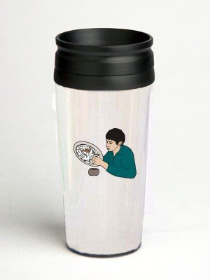 16 oz. Double Wall Insulated Tumbler with man painting - Paper Insert