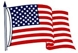 4-pack, 3x5 Inch American Flag Decals - Static Cling