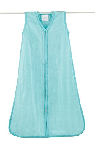 aden + anais Rayon From Bamboo Sleeping Bag, Azure Solid, Small