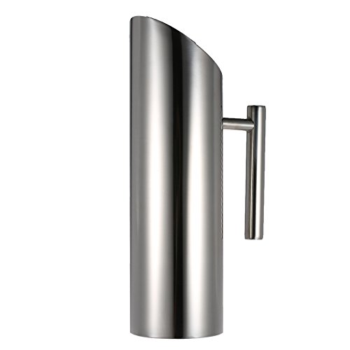 Stainless Steel Water Pitcher Cold Drink Juice Pot with Ice Guard water tea pot kettle jug pitcher household : 1.5L Large Capacity (Jugs With Spigots compare prices)