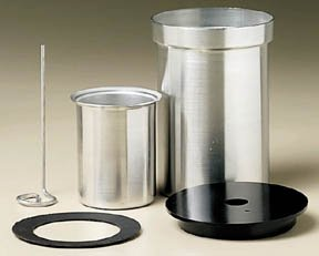 Calorimeter; Aluminum; Inner Vessel: 250mL; Outer Vessel: Stopper and stirrer holes, approx. 700mL by Electro Mechanical Instruments