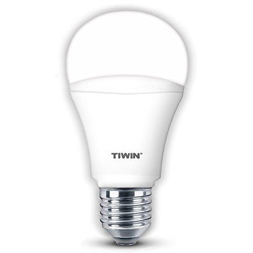 TIWIN E27 LED A+ Lampe, ersetzt 100W, Kaltweiss (5700 Kelvin), 1540 Lumen, 13W, 220° Abstrahlwinkel, Standard A60, Superhelle LED