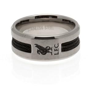 Liverpool F.C. Black Inlay Ring Medium from LIVERPOOL F.C.