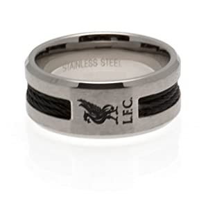 liverpool f c black inlay liverbird lfc ring co