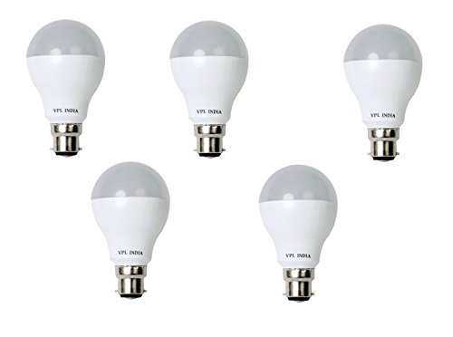 7W White LED Bulb (Pack of 5)
