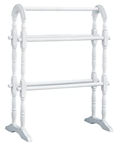 White Wooden Towel Clothes Stand Rail Rack Dryer Holder
