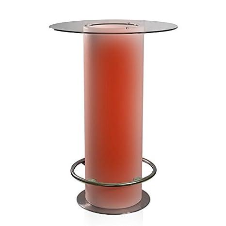 Luminatos 18LED mesa con cristal Hielo compartimento Cambio de color batería operativos