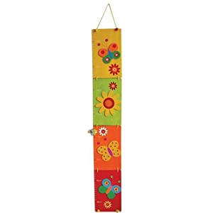 Flower and Butterfly Wooden Height Charts For Girls