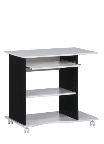 MAJA-Möbel 4024 3537 Computertisch  weiß uni - schwarz  Abmessungen BxHxT  80 x 75 x 50 cm