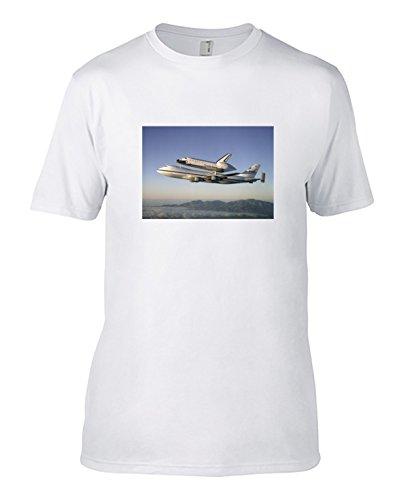オリジナル プリントTシャツ 題名:ケネディ宇宙センターに戻るスペースシャト...